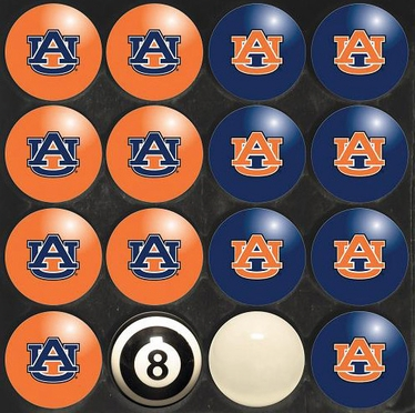 Auburn Home and Away Complete Billiard Ball Set