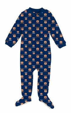 Auburn Infant Footed Full Zip Raglan Coverall Sleeper