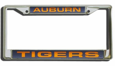 Auburn Laser Etched Chrome License Plate Frame