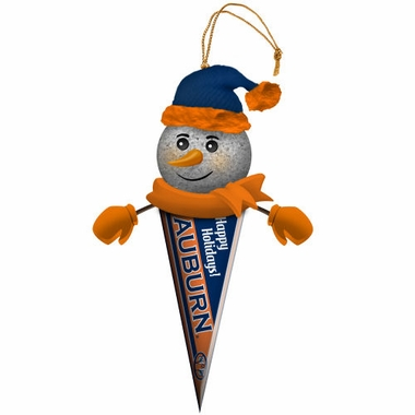 Auburn Light Up Snowman Pennant Ornament (Set of 2)