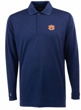 Auburn Mens Long Sleeve Polo Shirt (Team Color: Navy)