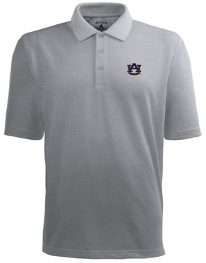 Auburn Mens Pique Xtra Lite Polo Shirt (Color: Gray)