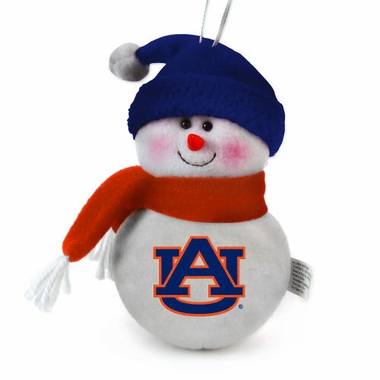 Auburn Plush Snowman Ornament (Set of 3)