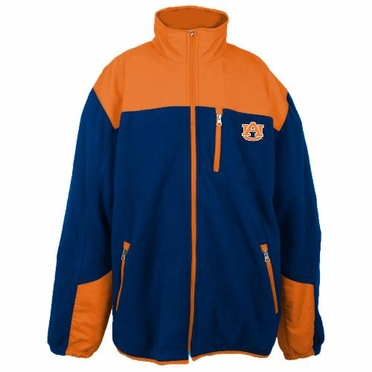 Auburn Poly Dobby Full Zip Polar Fleece Jacket