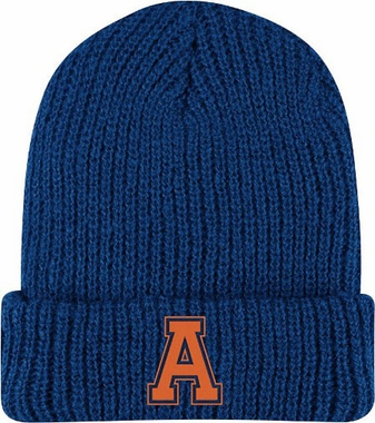Auburn Retro Yarn Cuffed Knit Hat