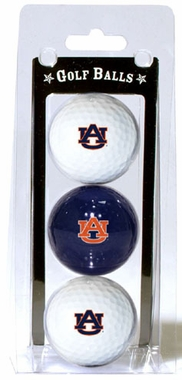 Auburn Set of 3 Multicolor Golf Balls