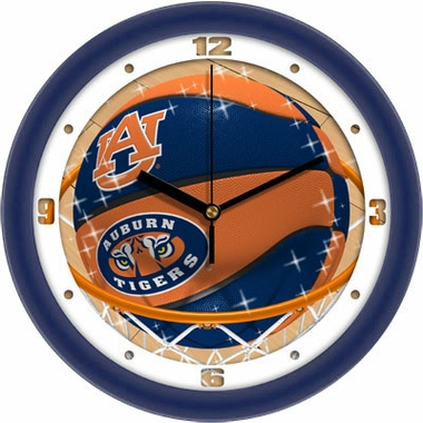 Auburn Slam Dunk Wall Clock