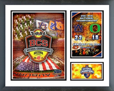 Auburn Tigers 2011 BCS National Champions Framed Milestones & Memories