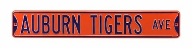 Auburn Tigers Ave Street Sign