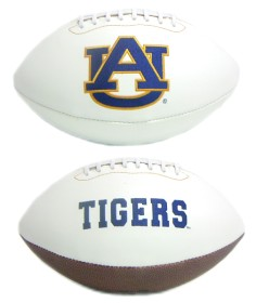 Auburn Tigers Full Size Embroidered Football