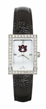 Auburn Women's Black Leather Strap Allure Watch