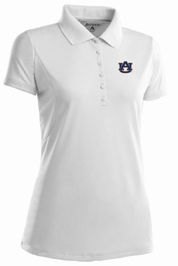 Auburn Womens Pique Xtra Lite Polo Shirt (Color: White)