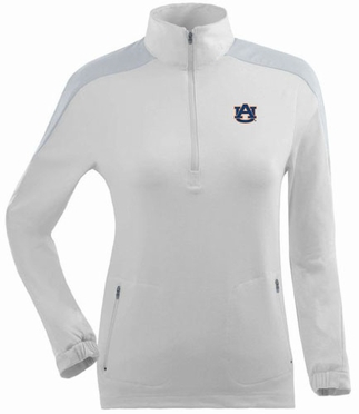 Auburn Womens Succeed 1/4 Zip Performance Pullover (Color: White)