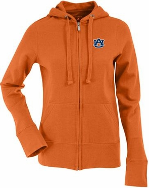 Auburn Womens Zip Front Hoody Sweatshirt (Alternate Color: Orange)