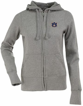 Auburn Womens Zip Front Hoody Sweatshirt (Color: Gray)