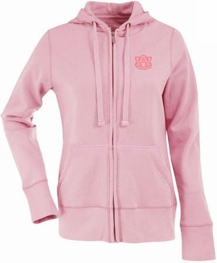 Auburn Womens Zip Front Hoody Sweatshirt (Color: Pink)