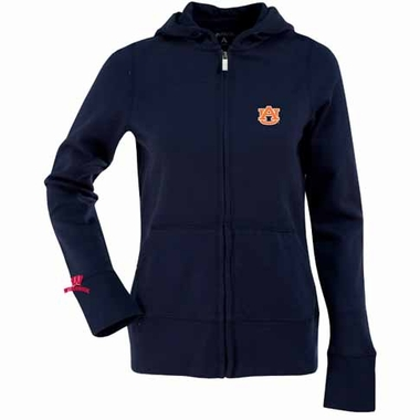 Auburn Womens Zip Front Hoody Sweatshirt (Team Color: Navy)