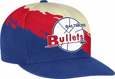 Baltimore Bullets Vintage Paintbrush Snap Back Hat