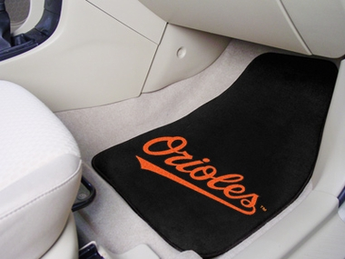 Baltimore Orioles 2 Piece Car Mats