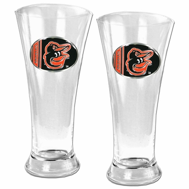 Baltimore Orioles 2 Piece Pilsner Glass Set