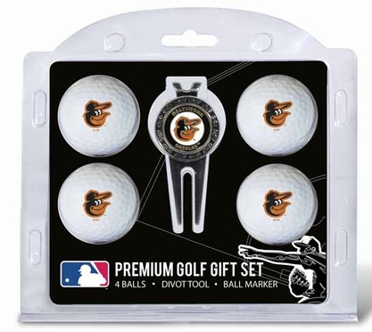 Baltimore Orioles 4 Ball and Tool Gift Set