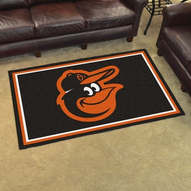 Baltimore Orioles 4 Foot x 6 Foot Rug
