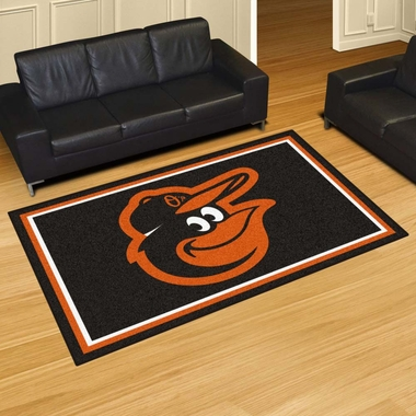 Baltimore Orioles 5 Foot x 8 Foot Rug