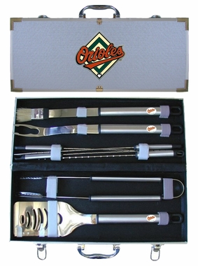 Baltimore Orioles 8pc. BBQ Set w/Case