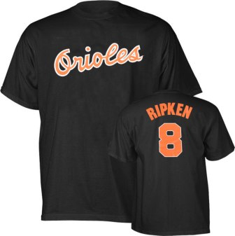 Baltimore Orioles Cal Ripken Jr. Name and Number T-Shirt