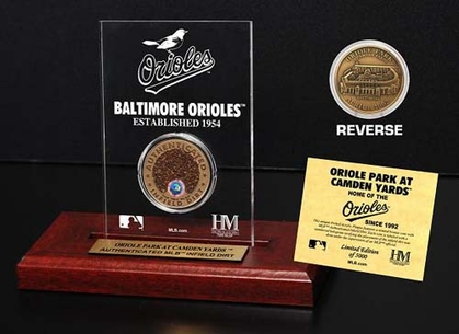 Baltimore Orioles Camden Yards Infield Dirt Coin Etched Acrylic