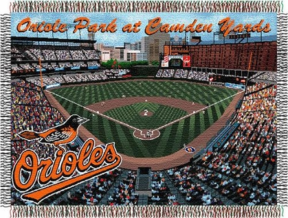 Baltimore Orioles Camden Yards Woven Throw Blanket Tapestry Throw