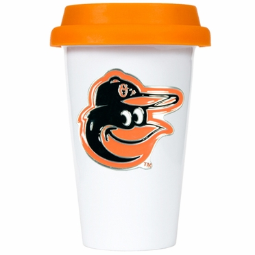 Baltimore Orioles Ceramic Travel Cup (Team Color Lid)