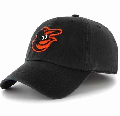 Baltimore Orioles Clean Up Adjustable Hat - Black