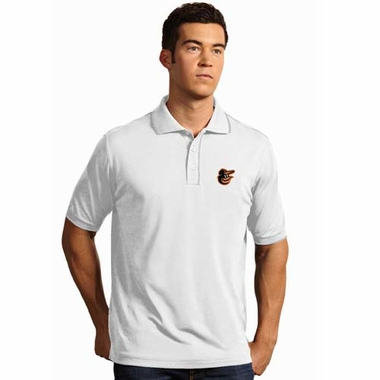 Baltimore Orioles Mens Elite Polo Shirt (Color: White)