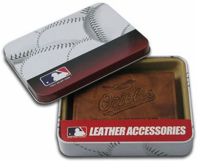 Baltimore Orioles Embossed Leather Trifold Wallet