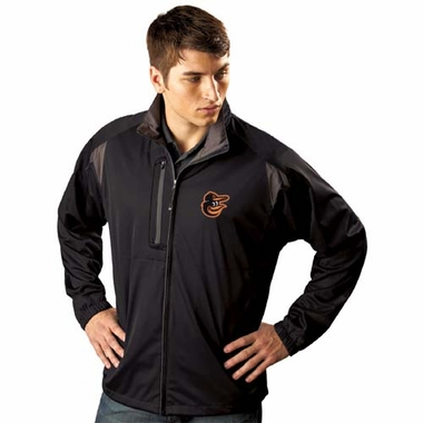 Baltimore Orioles Mens Highland Water Resistant Jacket (Team Color: Black)