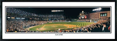 Baltimore Orioles Last at Bat Framed Panoramic Print