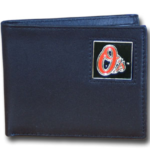 Baltimore Orioles Leather Bifold Wallet (F)
