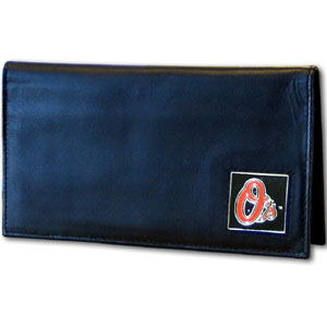 Baltimore Orioles Leather Checkbook Cover