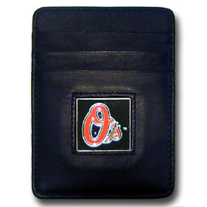 Baltimore Orioles Leather Money Clip (F)