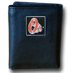 Baltimore Orioles Leather Trifold Wallet (F)