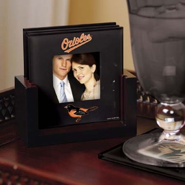 Baltimore Orioles Photo Coaster Set