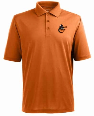 Baltimore Orioles Mens Pique Xtra Lite Polo Shirt (Cooperstown) (Team Color: Orange)
