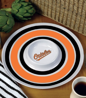 Baltimore Orioles Plastic Chip and Dip Plate
