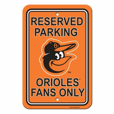 Baltimore Orioles Plastic Parking Sign (P)