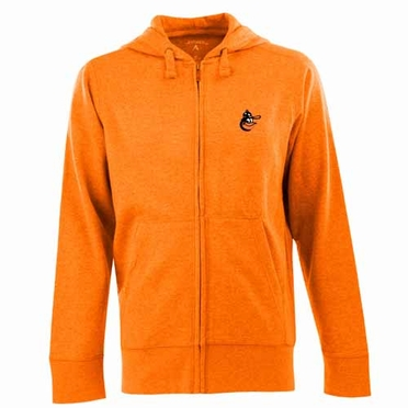 Baltimore Orioles Mens Signature Full Zip Hooded Sweatshirt (Cooperstown) (Team Color: Orange)