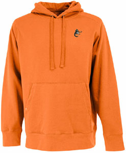 Baltimore Orioles Mens Signature Hooded Sweatshirt (Cooperstown) (Team Color: Orange) - Large