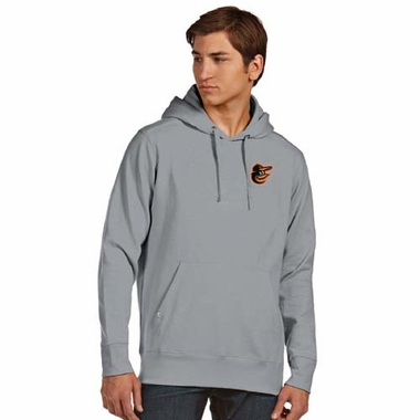 Baltimore Orioles Mens Signature Hooded Sweatshirt (Color: Gray)