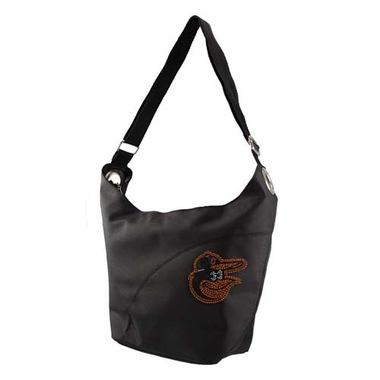 Baltimore Orioles Sport Noir Sheen Hobo Purse