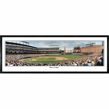 Baltimore Orioles Who's at Bat Framed Panoramic Print